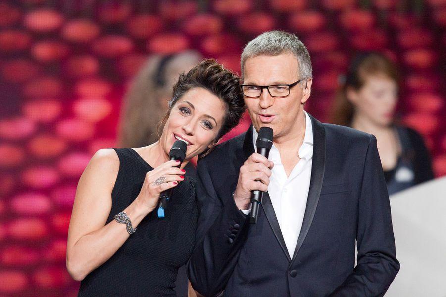 """Avec Virginie Guilhaume lors des """"Victoires de La Musique"""" en 2013"""