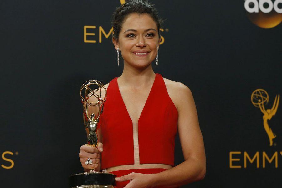 "Meilleure actrice dans une série dramatique : Tatiana Maslany, ""Orphan Black"" (BBC America)"