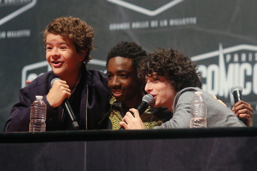 Gaten Matarazzo (Dustin), Caleb McLaughlin (Lucas) et Finn Wolfhard (Mike)