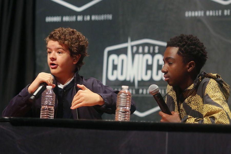 Gaten Matarazzo (Dustin) et Caleb McLaughlin (Lucas)