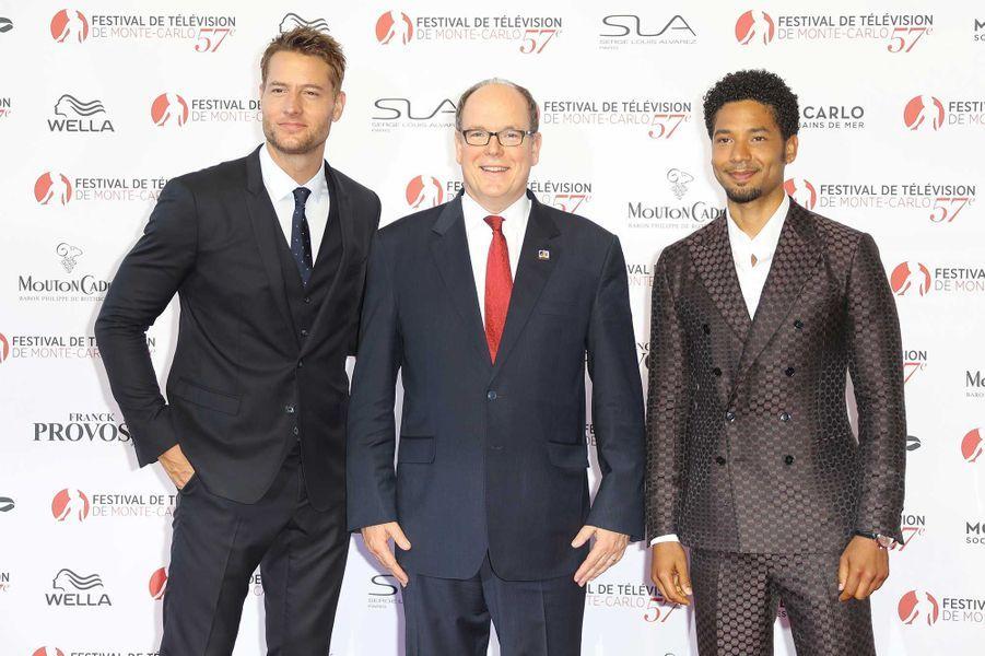 """Justin Hartley (""""This is us""""), le prince Albert II de Monaco etJussie Smollett (""""Empire"""")"""