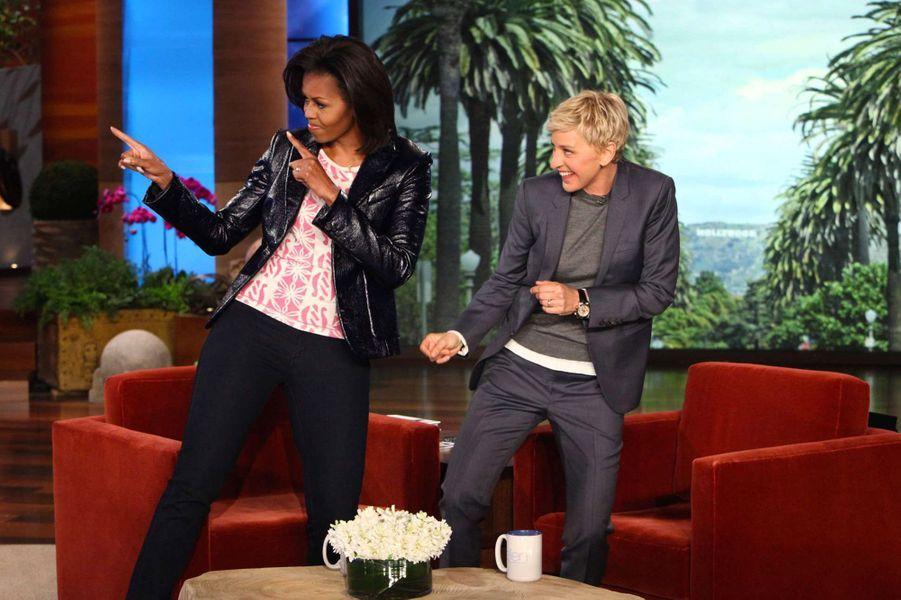 Michelle Obama sur le plateau d'Ellen DeGeneres