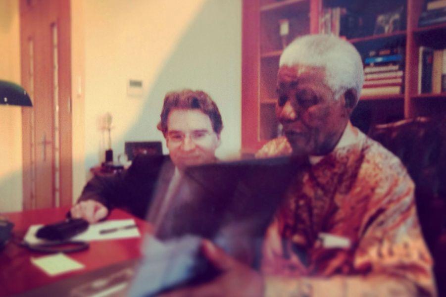 Johannesburg, 2006, dans le bureau de Nelson Mandela.