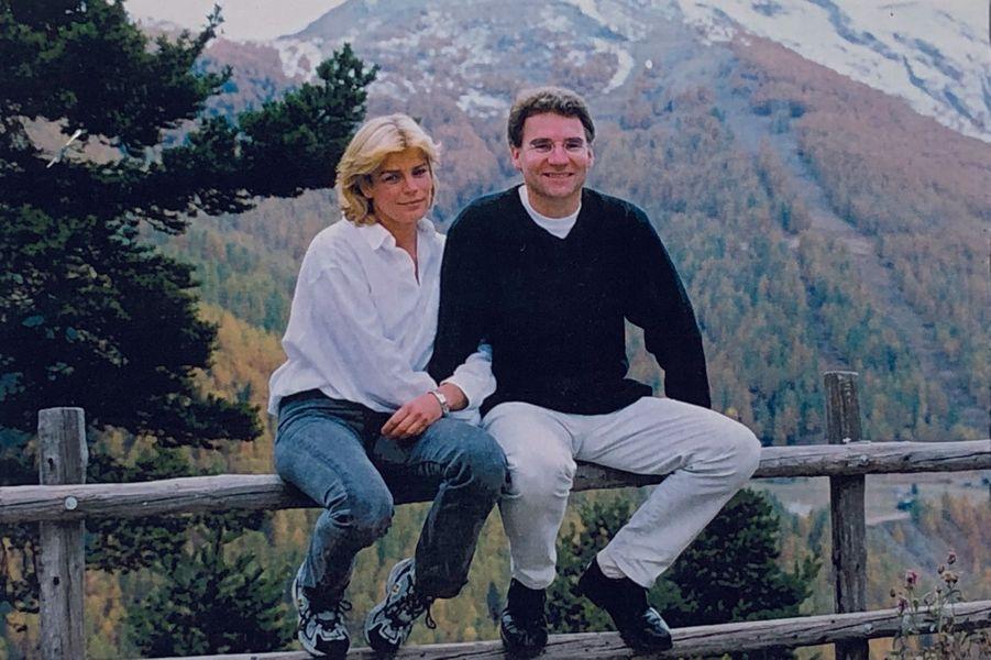 Avec la princesse Stéphanie de Monaco, en 2001, quinze ans après leur première rencontre.
