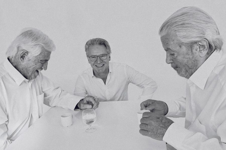 Avec Jean-Paul Belmondo et Alain Delon, le 29 mai 2019.