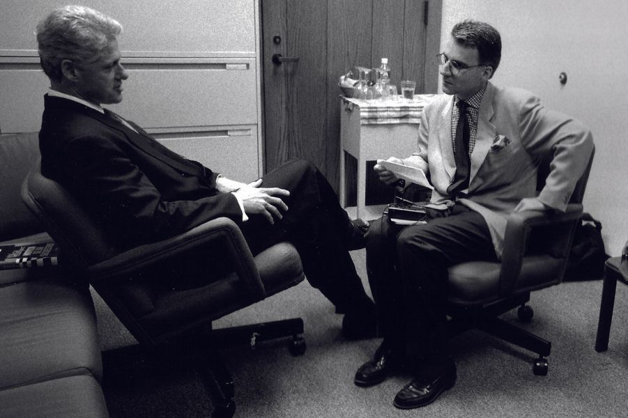 Los Angeles, 1996, avec Bill Clinton en campagne pour un second mandat.