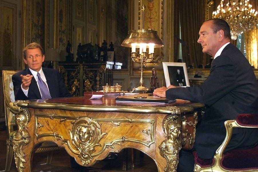 Avec Jacques Chirac en 1999