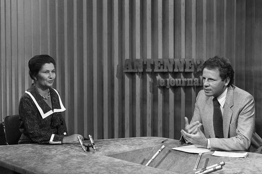 Patrick Poivre d'Arvor avec Simone Veil en 1979