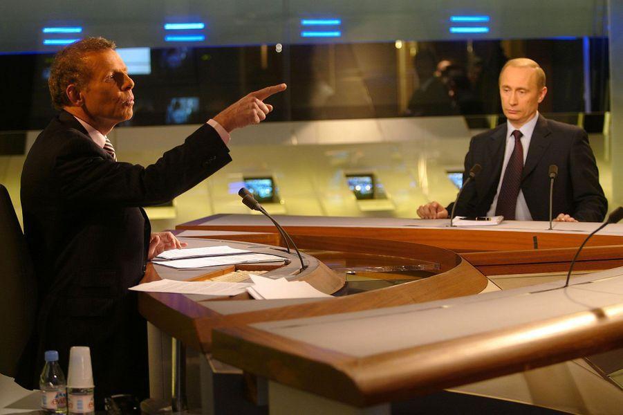 Avec Vladimir Poutine en 2003