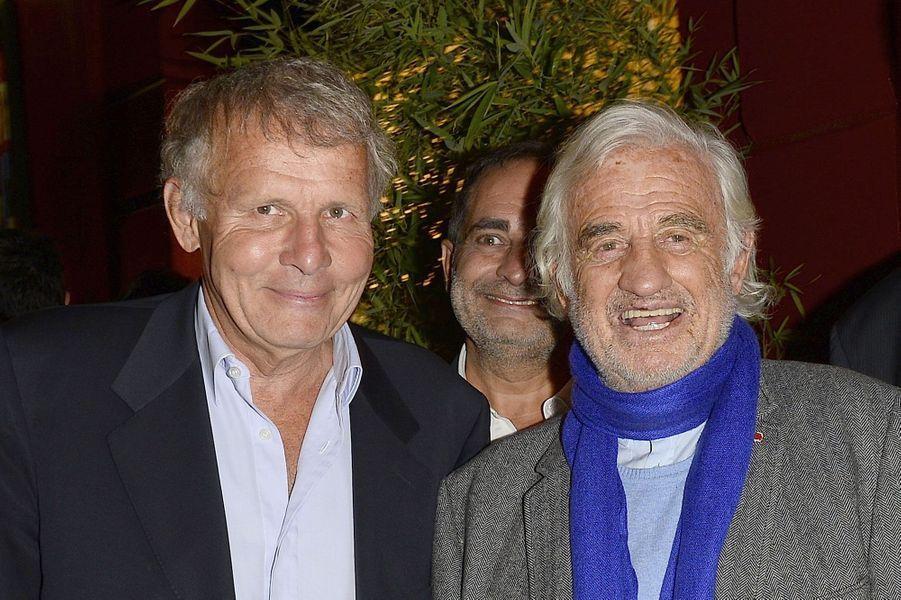 Avec Jean-Paul Belmondo en 2015