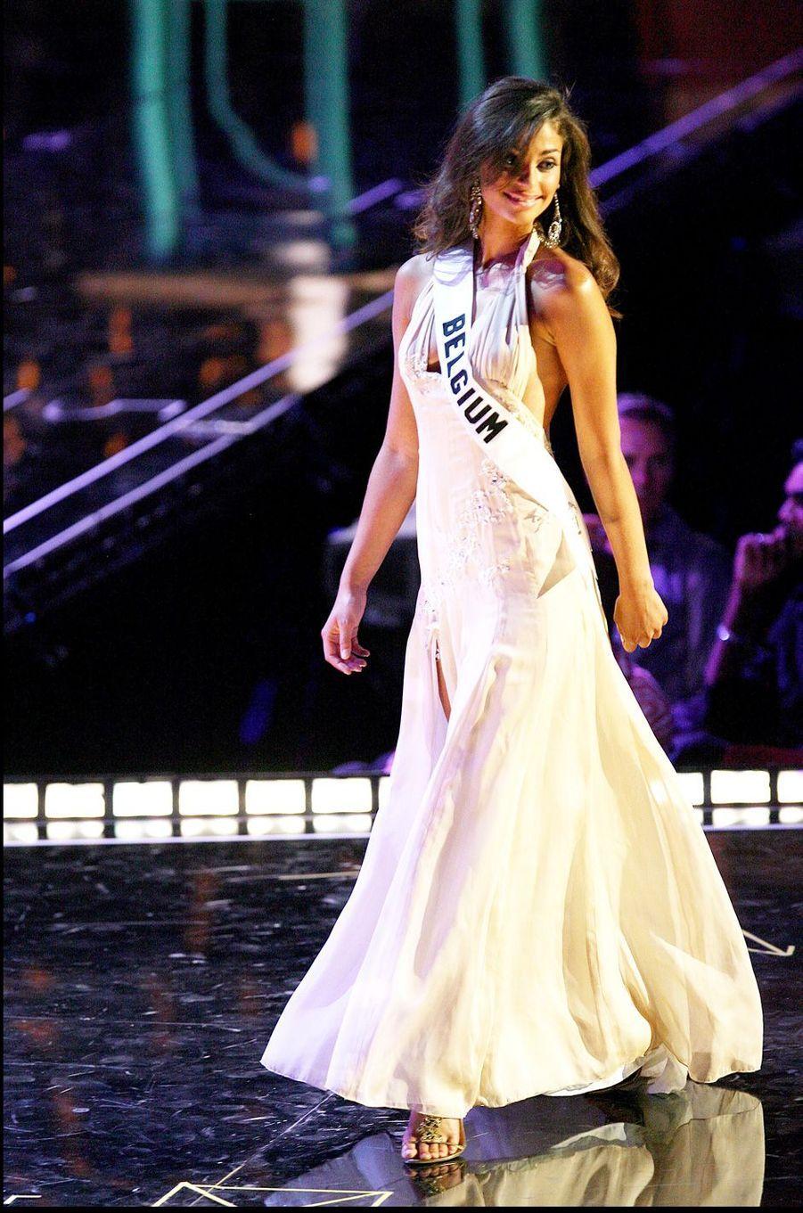 Tatiana Silva, Miss Belgique 2005, ici en 2006 lors des sélections pour le concours Miss Univers.