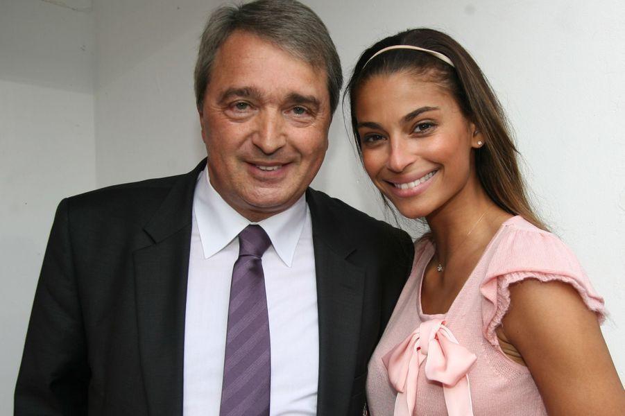 Tatiana Silva etHerman Van Holsbeeck,manager d'Anderlecht, en mai 2013.