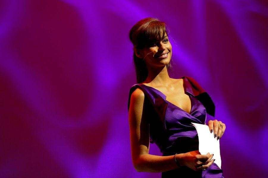 Tatiana Silva lors duFestival International du Film d'Amour de Mons, en février 2014.