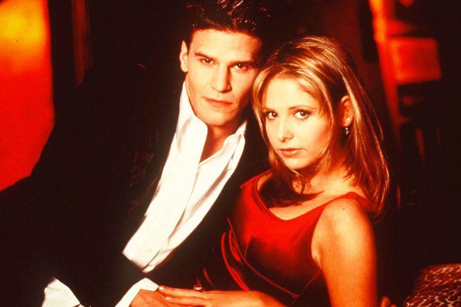 """Avec David Boreanaz dans """"Buffy contre les vampires"""""""