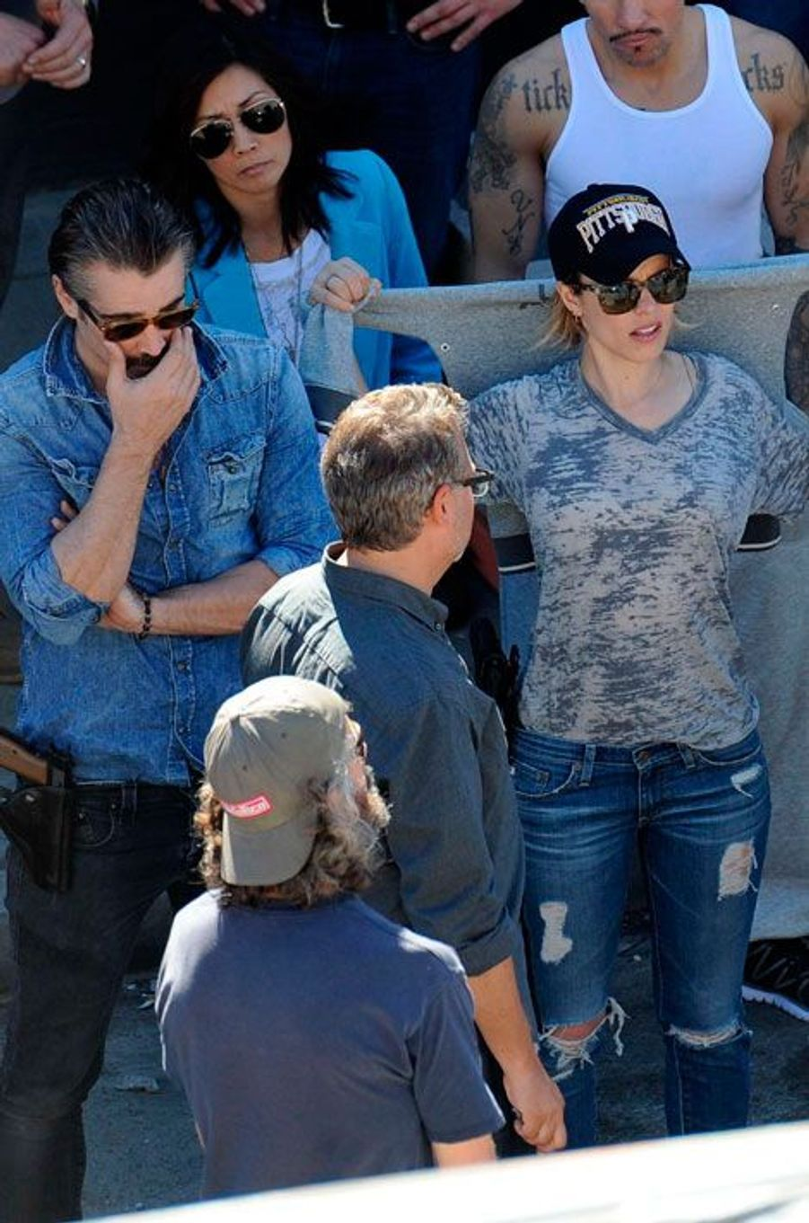 """Colin Farrell et Rachel McAdams sur le tournage de """"True Detective"""""""