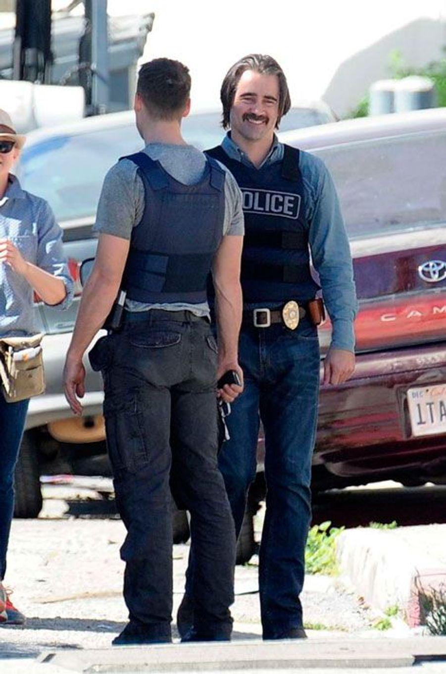 """Colin Farrell et Taylor Kitsch sur le tournage de """"True Detective"""""""