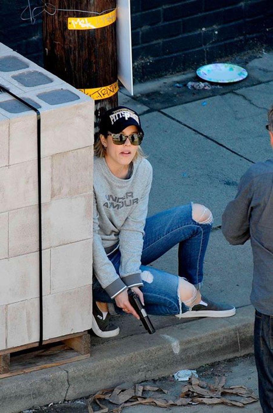 """Rachel McAdams sur le tournage de """"True Detective"""""""
