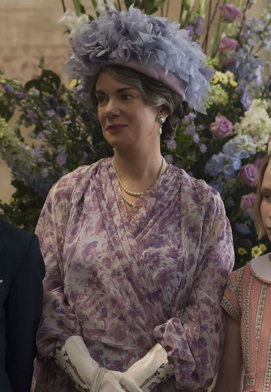 "Victoria Hamilton, ""Queen Mum"" dans ""The Crown"""