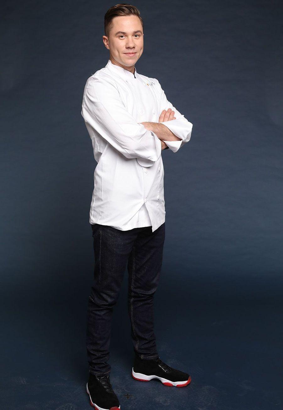 "Baptiste Renouard, 27 ans, Chef de son restaurant ""Ochre"", Rueil-Malmaison"