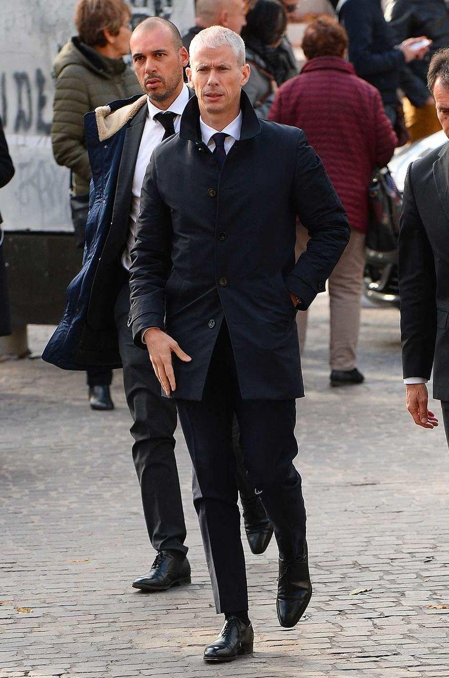 Le ministre de la Culture Franck Riesteraux obsèques de Marie Laforêt, à Paris, le 7 novembre 2019.