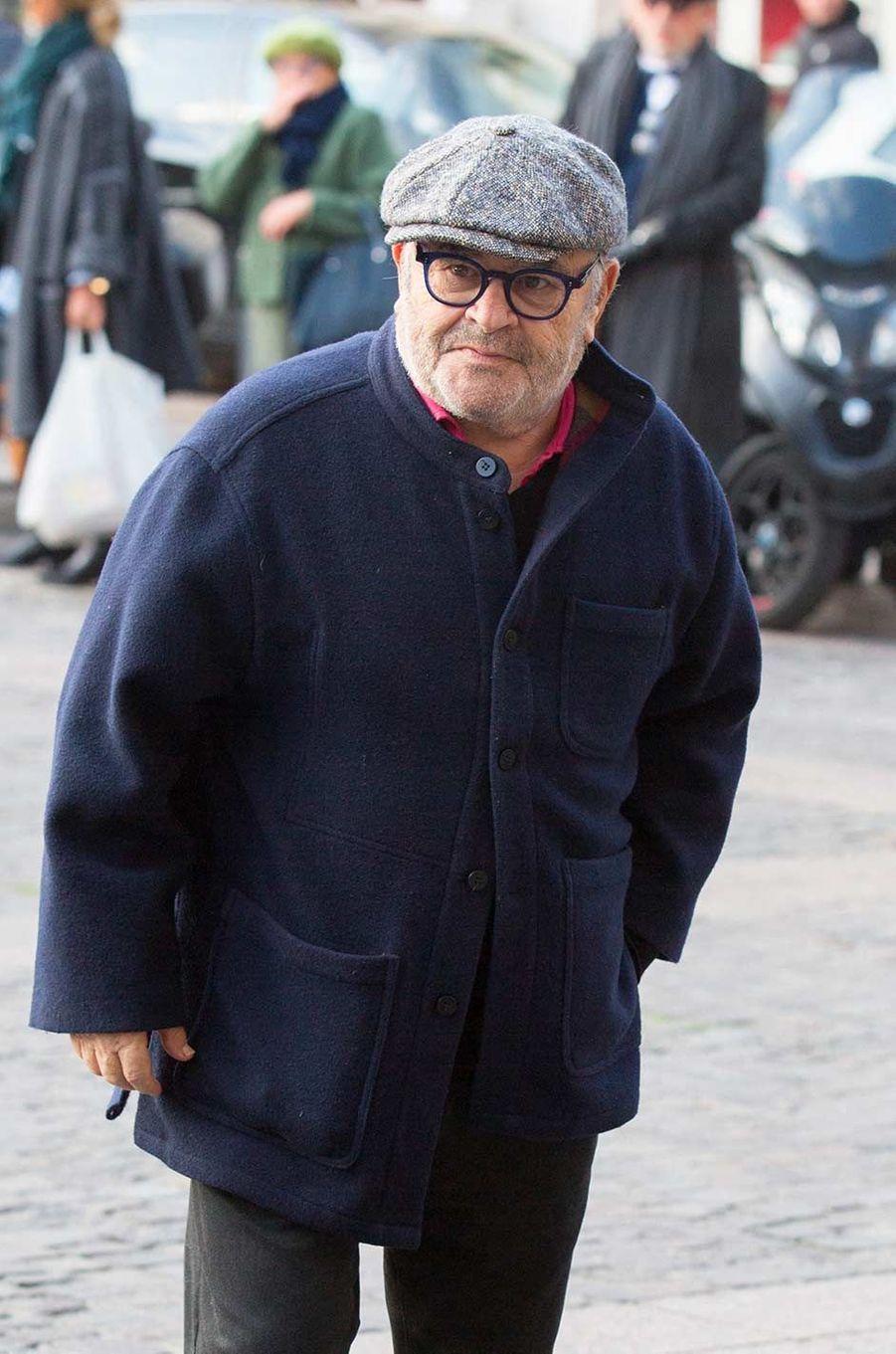Jean Benguiguiaux obsèques de Marie Laforêt, à Paris, le 7 novembre 2019.