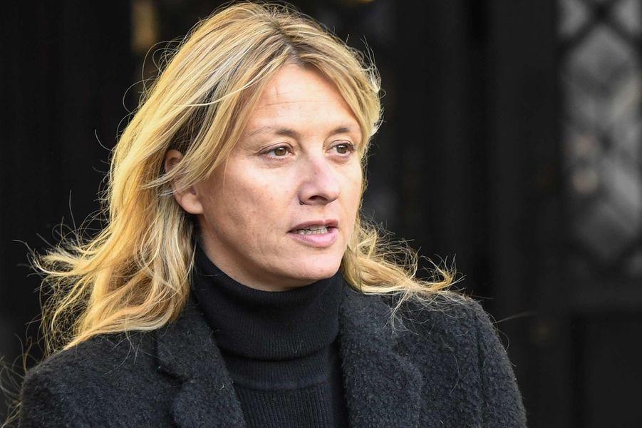 Sarah Lavoineaux obsèques de Marie Laforêt, à Paris, le 7 novembre 2019.