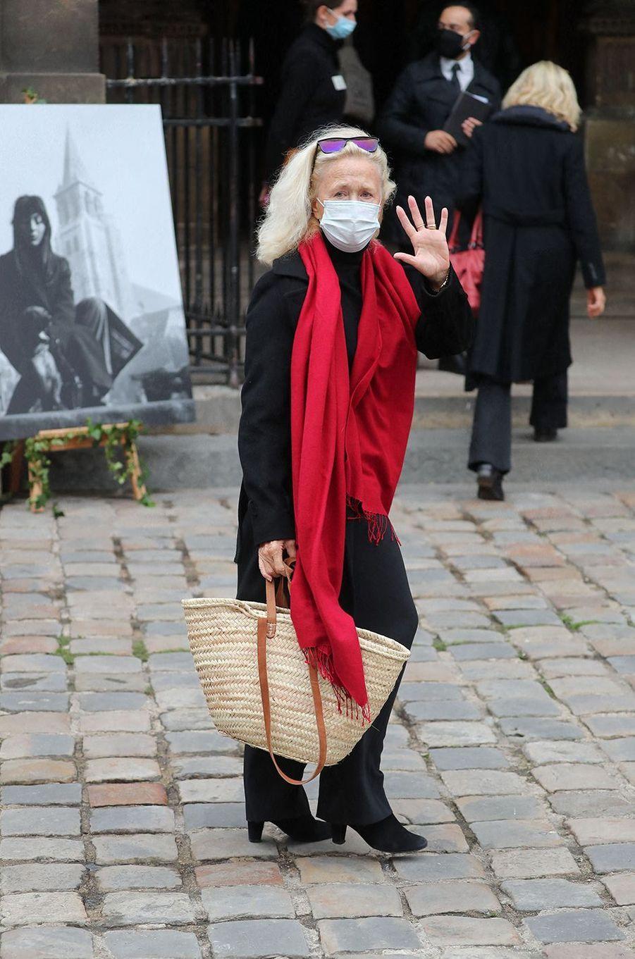 Brigitte Fosseyaux obsèques de Juliette Gréco à Paris le 5 octobre 2020