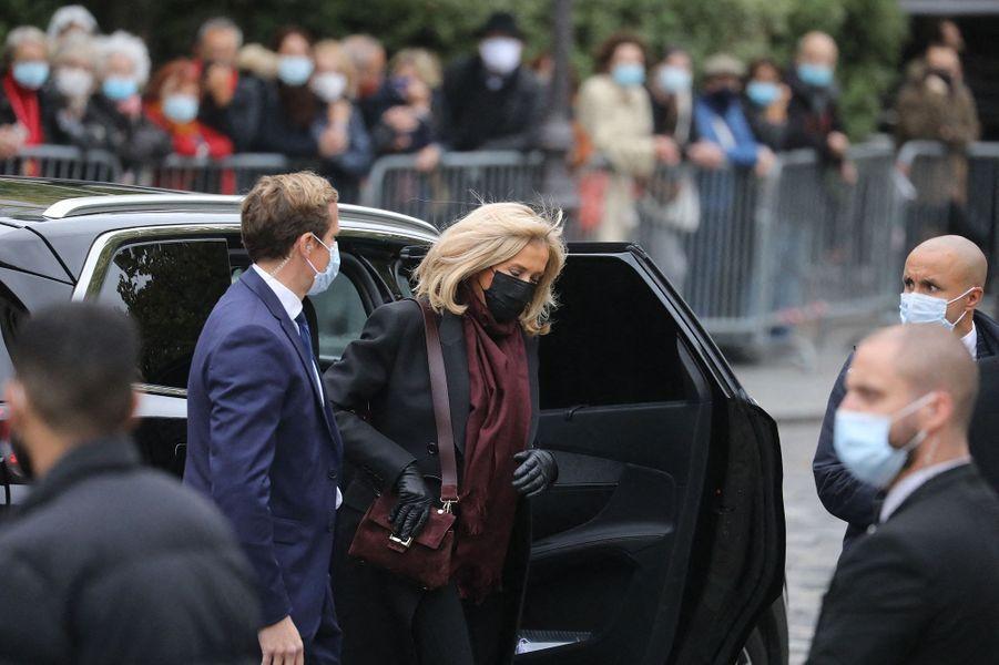 Brigitte Macron aux obsèques de Juliette Gréco à Paris le 5 octobre 2020