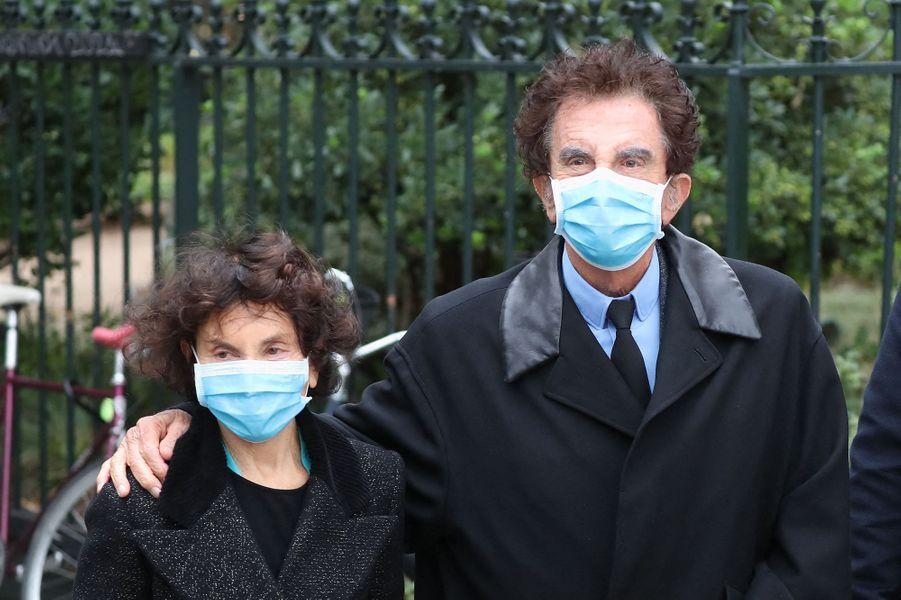 Monique et Jack Langaux obsèques de Juliette Gréco à Paris le 5 octobre 2020
