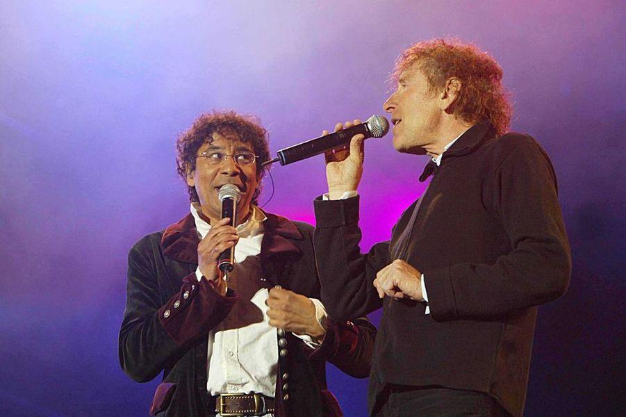 Laurent Voulzy et Alain Souchon aux Francofolies de la Rochelle en juillet 2004