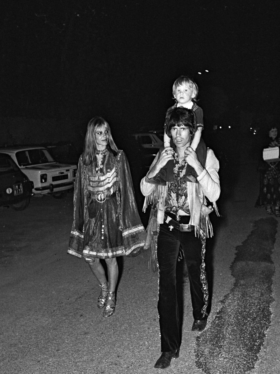Keith et Anita en 1971 lors du mariage de Mick Jagger et Bianca Moreno à Saint-Tropez.