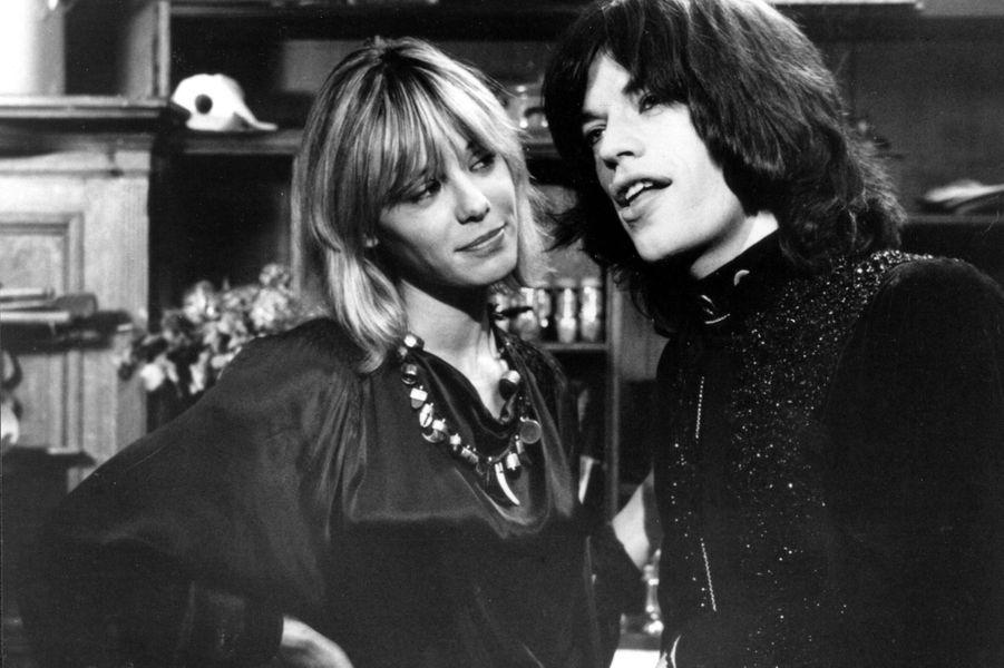 "Anita Pallenberg et Mick Jagger en 1970 dans ""Performance""."