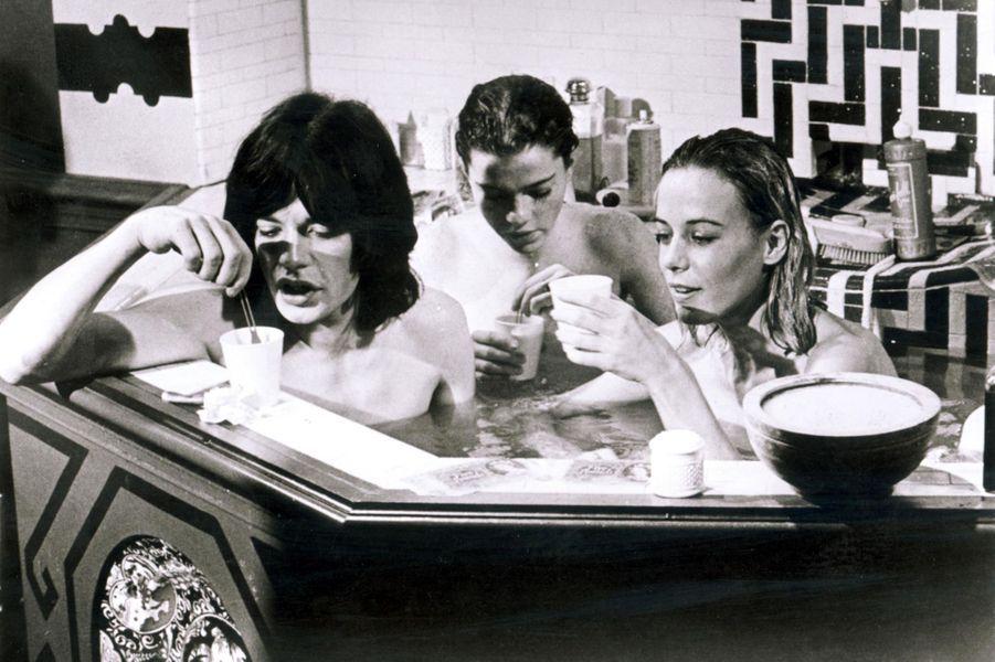 "Anita Pallenberg et Mick Jagger dans ""Performance""."