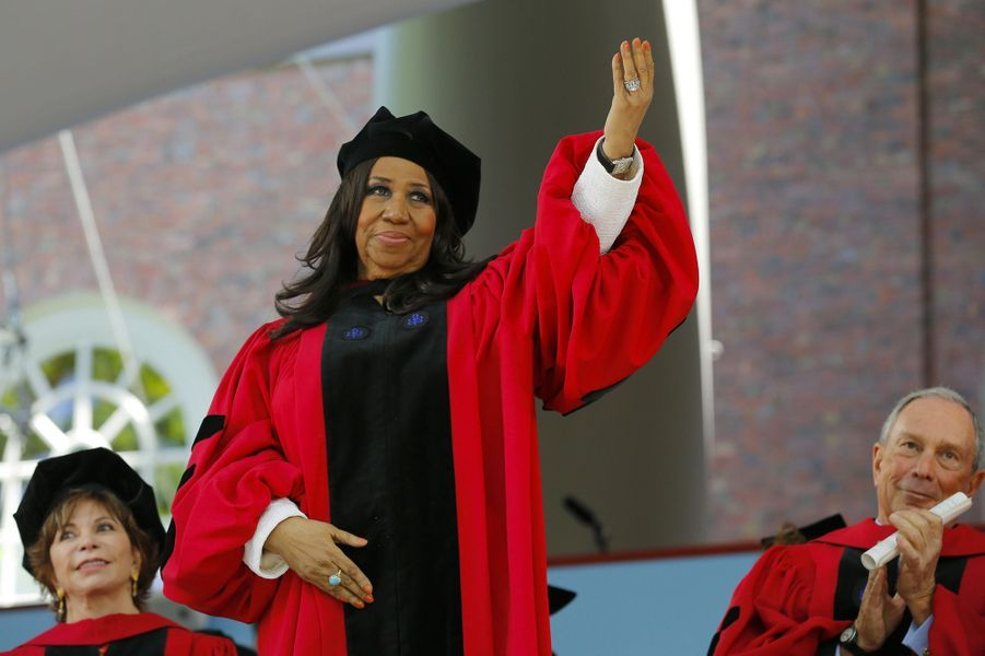 Aretha Franklin honorée à Harvard, en 2014.