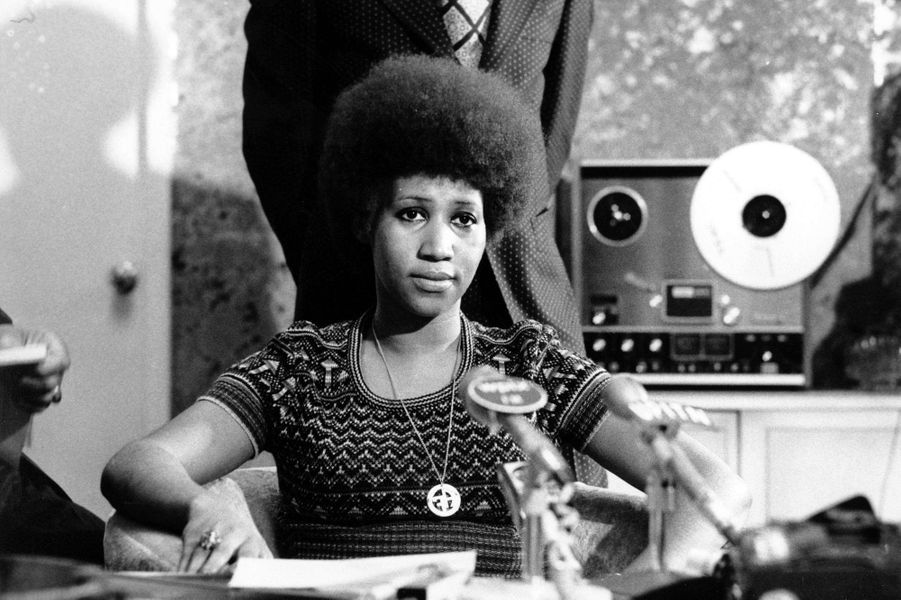 Aretha Franklin, le 23 mars 1973.