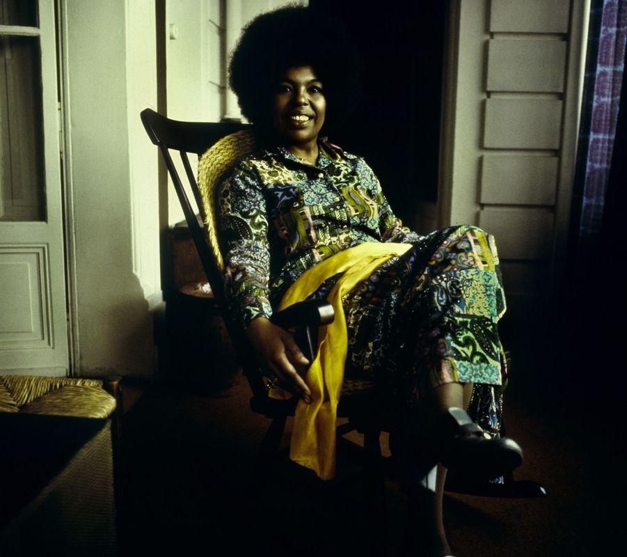 Aretha Franklin, photographiée dans les années 70.