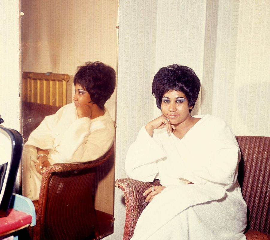 Aretha Franklin sur une photo non datée.