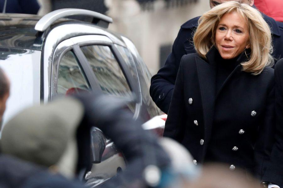Brigitte Macron aux obsèques de Michel Legrand.