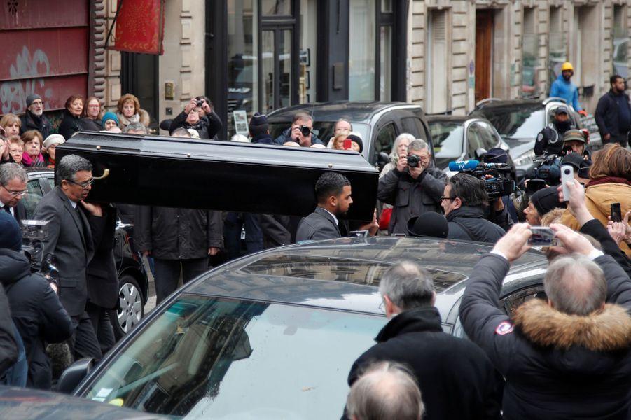 Les obsèques de Michel Legrand , vendredi à la Cathédrale orthodoxe Saint-Alexandre-Nevsky à Paris.