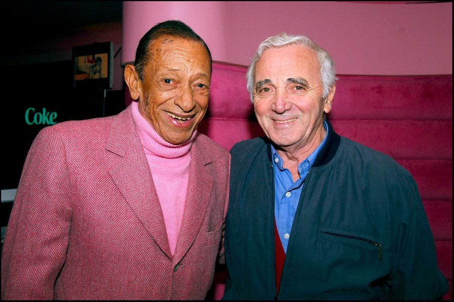 Henri Salvador et Charles Aznavour, en septembre 2005.
