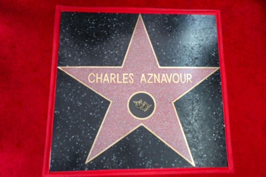 L'étoile de Charles Aznavour à Los Angeles, en août 2017.