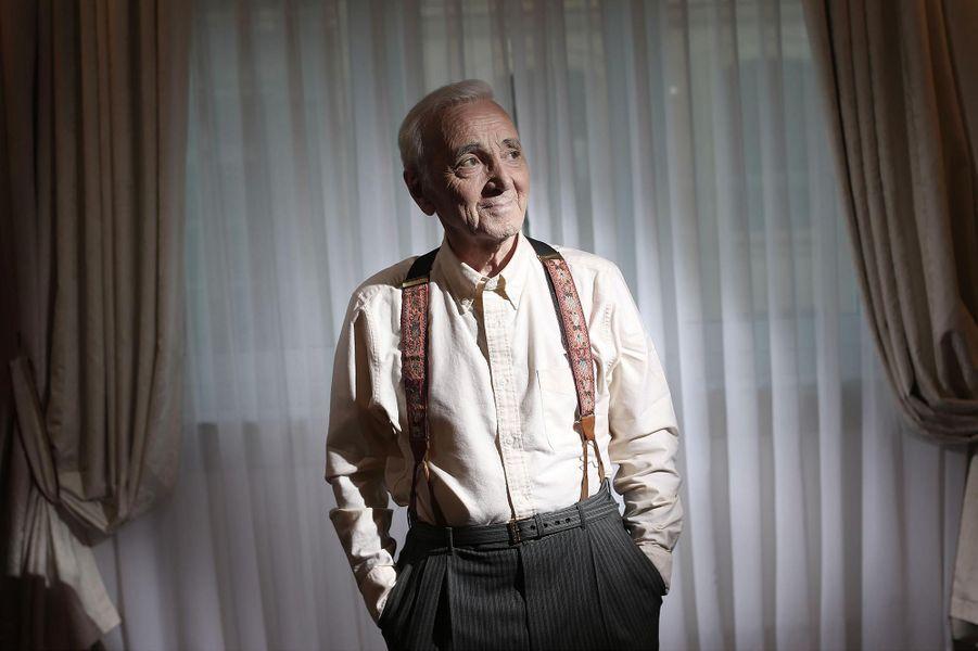 Charles Aznavour, en décembre 2016.