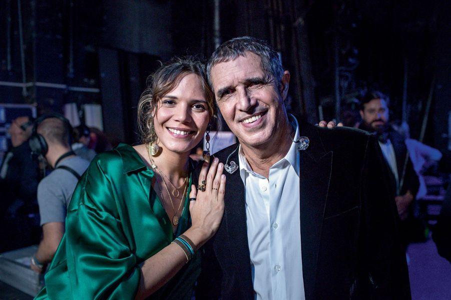 Avec sa fille Vanille.