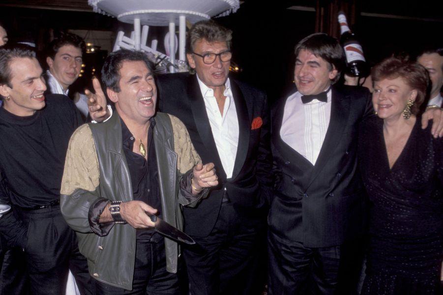 Claude Nougaro, Johnny Hallyday, Serge Lama et Régine