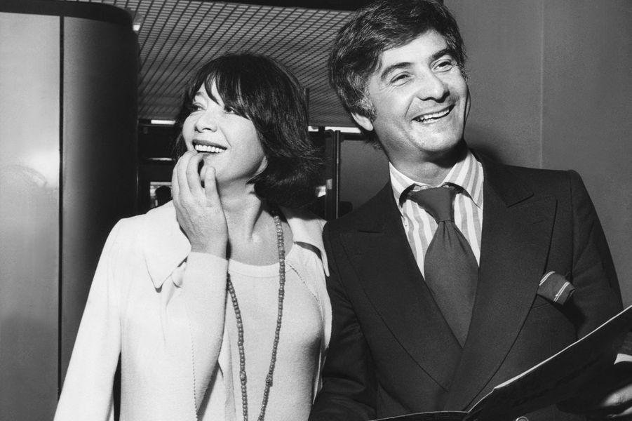 Avec Jean-Claude Brialy en 1975