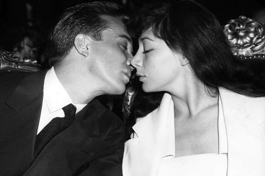 Juliette Gréco et son premier mari Philippe Lemaire en 1953.