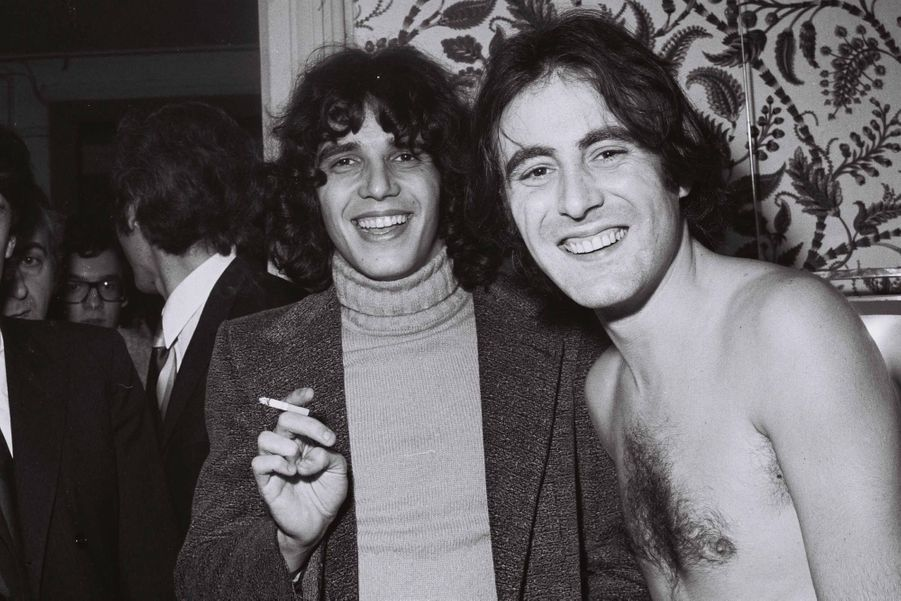 Julien Clerc et Michel Delpech en 1970