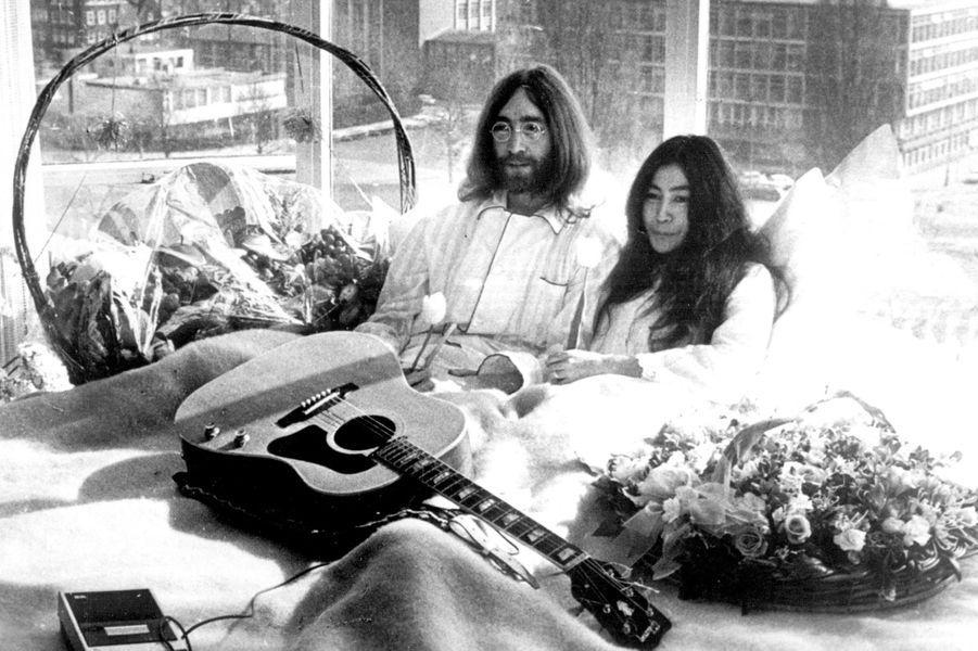 John Lennon et Yoko Ono en 1969