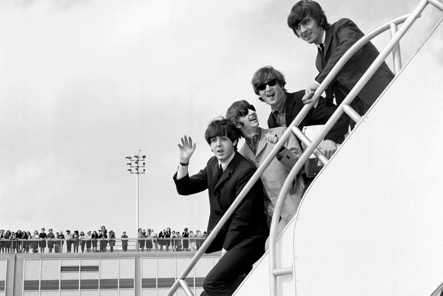 Les Beatles à l'aéroport JFK de New York en 1964