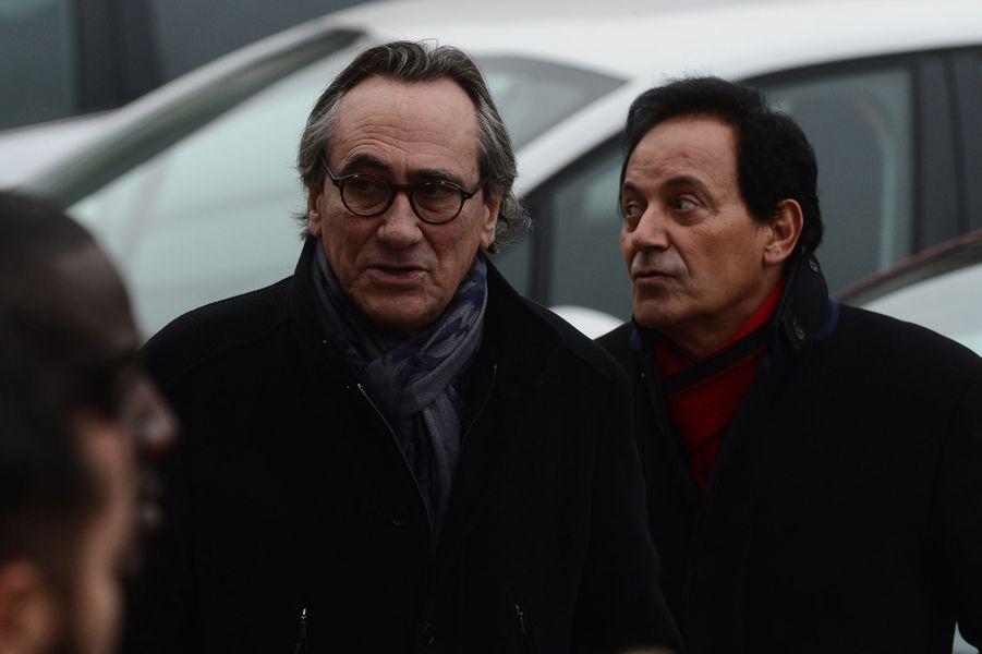 Philippe Lavil aux obsèques d'Erick Bamy